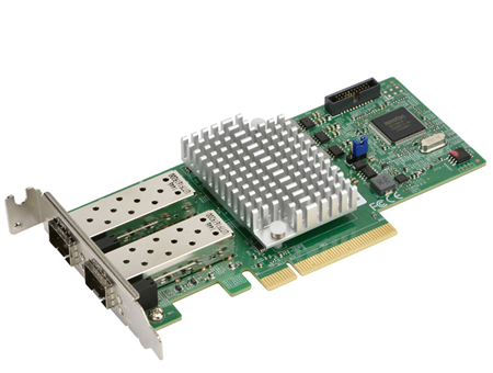 SuperMicro Standard Low profile 2-port 25GbE with SFP28 connectors, based on Intel XXV710 chipset