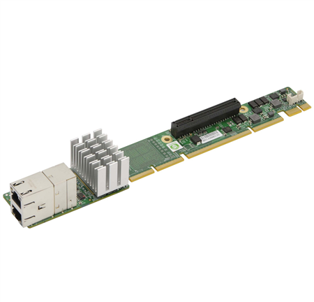 1U Ultra Riser with 2 10Gbase-T, Intel X540