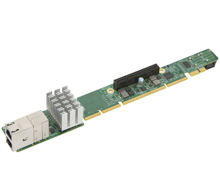1U Ultra Riser with 2 10Gbase-T and 2 NVMe ports, Intel X540 (For Integration Only)