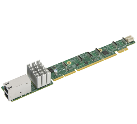 1U Ultra Riser with 2 10Gbase-T and 6 NVMe ports